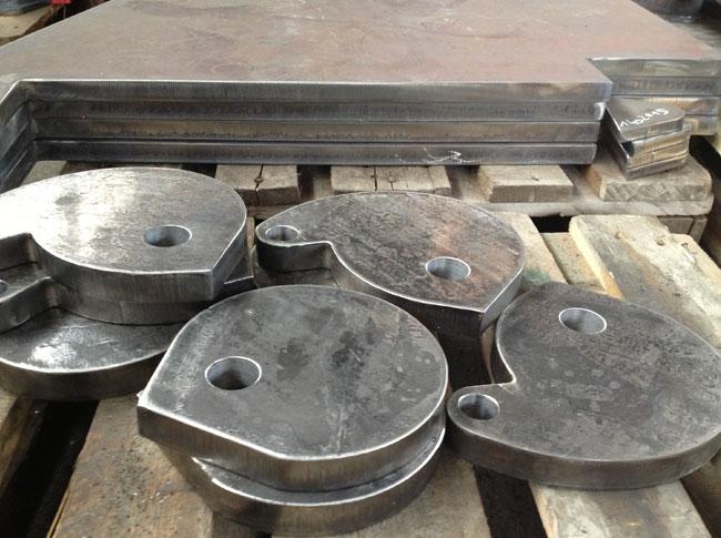 Brennschneid-Stahlteile brenngeschnitten